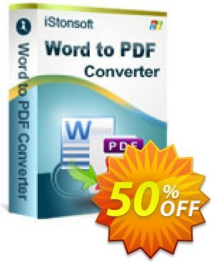iStonsoft Word to PDF Converter Coupon, discount 60% off. Promotion:
