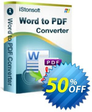 iStonsoft Word to PDF Converter Coupon discount 60% off. Promotion:
