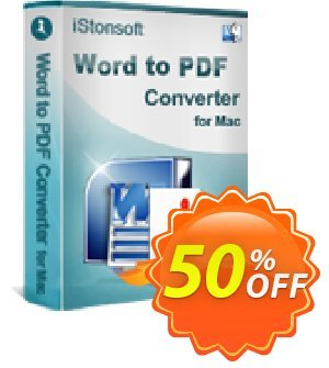 iStonsoft Word to PDF Converter for Mac Coupon discount 60% off -