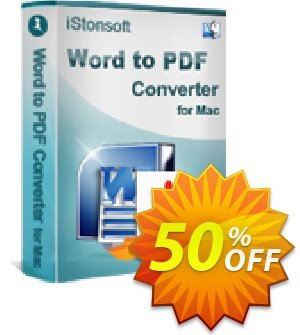 iStonsoft Word to PDF Converter for Mac 優惠券,折扣碼 60% off,促銷代碼: