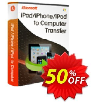 iStonsoft iPad/iPhone/iPod to Computer Transfer Coupon, discount Affiliate 60% OFF. Promotion: