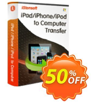 iStonsoft iPad/iPhone/iPod to Computer Transfer Coupon, discount 60% off. Promotion: