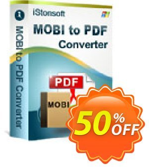 iStonsoft MOBI to PDF Converter Coupon, discount Affiliate 60% OFF. Promotion: