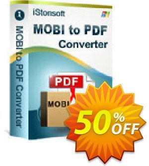 iStonsoft MOBI to PDF Converter Coupon discount 60% off. Promotion: