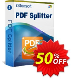 iStonsoft PDF Splitter Coupon discount 60% off. Promotion: