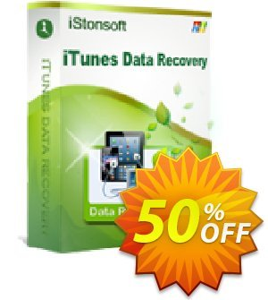 iStonsoft iTunes Data Recovery Coupon discount 60% off. Promotion: