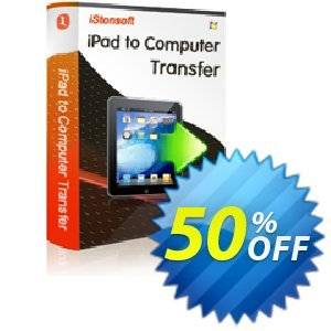 iStonsoft iPad to Computer Transfer Coupon discount 60% off. Promotion: