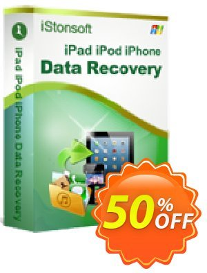 iStonsoft iPad/iPhone/iPod Data Recovery Coupon, discount 60% off. Promotion: