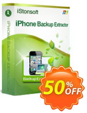 iStonsoft iPhone Backup Extractor 優惠券,折扣碼 60% off,促銷代碼: