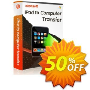 iStonsoft iPod to Computer Transfer Coupon, discount Affiliate 60% OFF. Promotion: