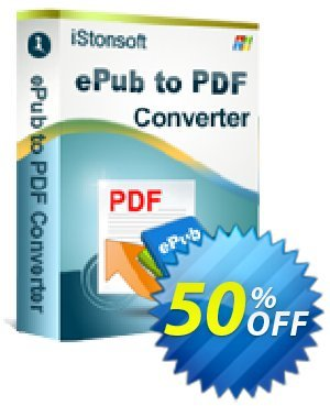 iStonsoft ePub to PDF Converter Coupon, discount 60% off. Promotion: