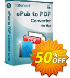 iStonsoft ePub to PDF Converter for Mac Coupon discount 60% off -