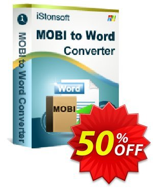 iStonsoft MOBI to Word Converter Coupon, discount Affiliate 60% OFF. Promotion: