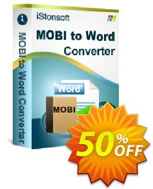 iStonsoft MOBI to Word Converter割引コード・60% off キャンペーン: