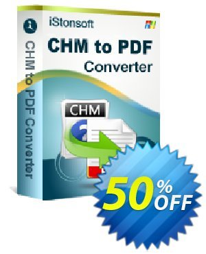 iStonsoft CHM to PDF Converter Coupon discount 60% off. Promotion: