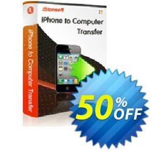 iStonsoft iPhone to Computer Transfer Coupon discount 60% off. Promotion: