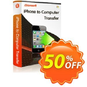 iStonsoft iPhone to Computer Transfer Coupon, discount 60% off. Promotion: