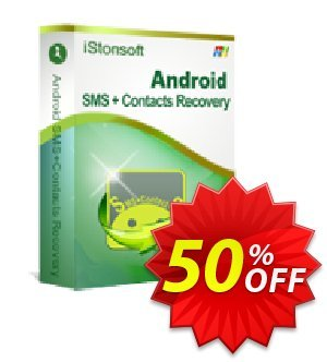 iStonsoft Android SMS+Contacts Recovery Coupon, discount 60% off. Promotion: