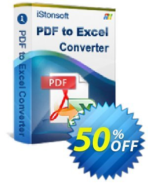 iStonsoft PDF to Excel Converter Coupon, discount Affiliate 60% OFF. Promotion: