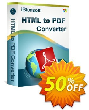 iStonsoft HTML to PDF Converter Coupon, discount Affiliate 60% OFF. Promotion: