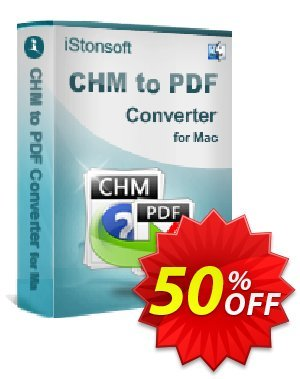 iStonsoft CHM to PDF Converter for Mac Coupon discount 60% off. Promotion: