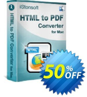 iStonsoft HTML to PDF Converter for Mac Coupon discount 60% off. Promotion: