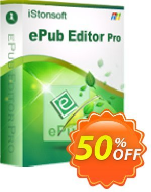 iStonsoft ePub Editor Pro Coupon, discount 60% off. Promotion:
