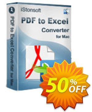 iStonsoft PDF to Excel Converter for Mac Coupon, discount 60% off. Promotion: