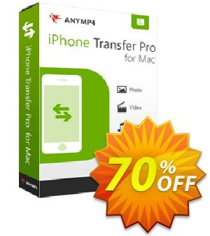 AnyMP4 iPhone Transfer Pro for Mac Lifetime License discount coupon AnyMP4 coupon (33555) - 50% AnyMP4 promotion