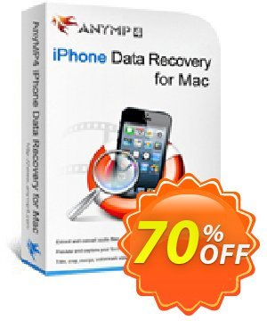 Get AnyMP4 iPhone Data Recovery for Mac + 6 Devices 50% OFF coupon code