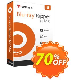 AnyMP4 Blu-ray Ripper for Mac Lifetime Coupon, discount AnyMP4 coupon (33555). Promotion: