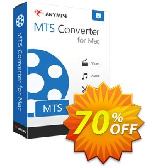 AnyMP4 MTS Converter for Mac Lifetime 프로모션 코드 AnyMP4 coupon (33555) 프로모션: