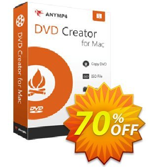 AnyMP4 DVD Creator for Mac Lifetime 프로모션 코드 AnyMP4 coupon (33555) 프로모션: