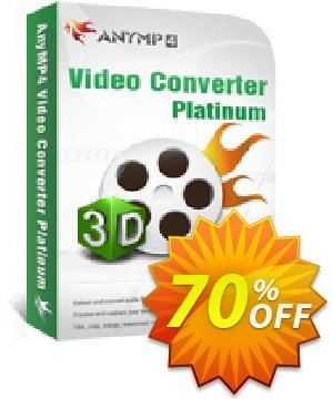 AnyMP4 Video Converter Platinum Coupon, discount AnyMP4 Video Converter Platinum excellent promo code 2021. Promotion: excellent promo code of AnyMP4 Video Converter Platinum 2021