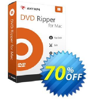 AnyMP4 DVD Ripper for Mac 프로모션 코드 AnyMP4 DVD Ripper for Mac staggering sales code 2019 프로모션:
