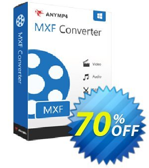 AnyMP4 MXF Converter Lifetime Coupon, discount AnyMP4 coupon (33555). Promotion: