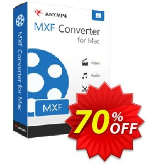 AnyMP4 MXF Converter for Mac Lifetime 프로모션 코드 AnyMP4 coupon (33555) 프로모션: