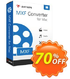 AnyMP4 MXF Converter for Mac Coupon, discount AnyMP4 coupon (33555). Promotion: