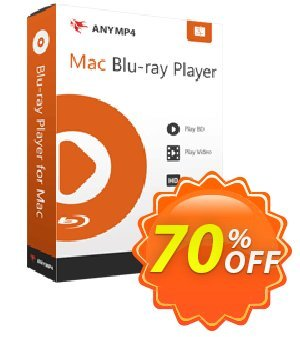 AnyMP4 Mac Blu-ray Player (1 year) Coupon, discount AnyMP4 coupon (33555). Promotion: