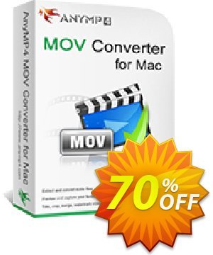 AnyMP4 MOV Converter for Mac Lifetime License discount coupon AnyMP4 coupon (33555) - 50% AnyMP4 promotion