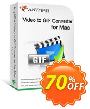 AnyMP4 Video to GIF Converter for Mac Lifetime discount coupon AnyMP4 coupon (33555) - AnyMP4 special discount (33555-95 anymp4 video to gif)