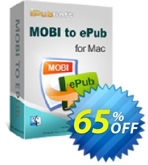 iPubsoft MOBI to ePub Converter for Mac 프로모션 코드 65% disocunt 프로모션: