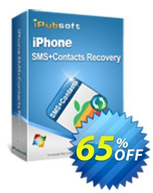 iPubsoft iPhone SMS+Contacts Recovery Coupon discount 65% disocunt. Promotion: