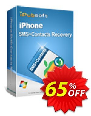 iPubsoft iPhone SMS+Contacts Recovery Coupon, discount 65% disocunt. Promotion: