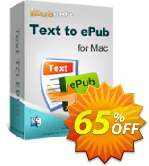 iPubsoft Text to ePub Converter for Mac Coupon, discount 65% disocunt. Promotion: