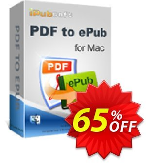 iPubsoft PDF to ePub Converter for Mac discount coupon 65% disocunt -
