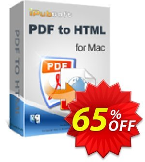 iPubsoft PDF to HTML Converter for Mac Coupon discount 65% disocunt -