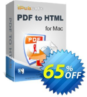 iPubsoft PDF to HTML Converter for Mac 프로모션 코드 65% disocunt 프로모션: