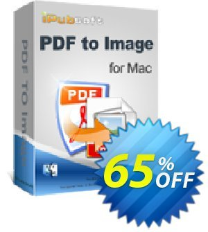 iPubsoft PDF to Image Converter for Mac Coupon discount 65% disocunt. Promotion: