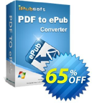 iPubsoft PDF to ePub Converter discount coupon 65% disocunt -